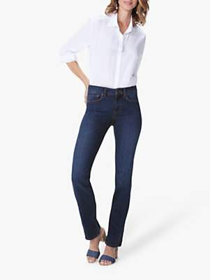 NYDJ Marilyn Straight Leg Regular Jeans, Cooper Blue