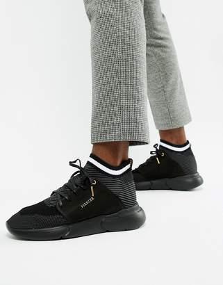 evo Mercer Sock Knit Nighttime sneakers in black nubuck