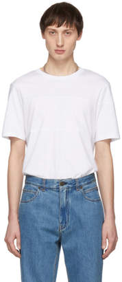 Helmut Lang White Band Seam T-Shirt