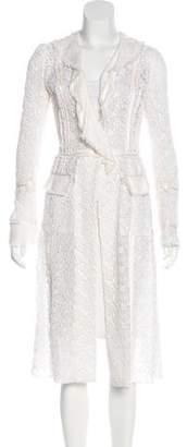 Dolce & Gabbana Silk-Trimmed Lace Coat