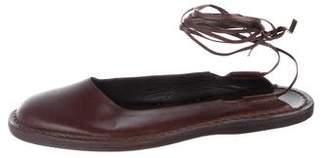 CNC Costume National Leather Round-Toe Flats