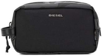 Diesel camouflage print wash bag