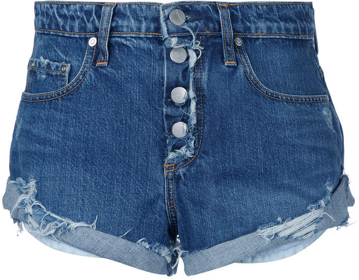 Nobody Denim 'Boho Short Exposed Break Up' Jeans-Shorts