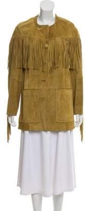 Isabel Marant Leather Fringe-Trimmed Jacket