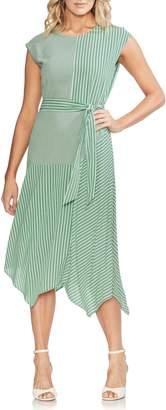 Vince Camuto Linear Motion Midi Dress