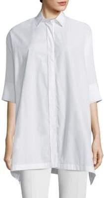 Agnona Cotton Poplin Tunic Shirt