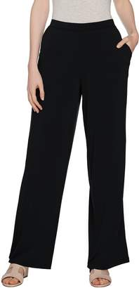 Halston H By H by Petite Jet Set Jersey Wide Leg Pull-on Pants