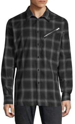 Givenchy Checkered Zip Shirt