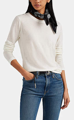 Barneys New York Women's Cashmere Long-Sleeve T-Shirt - White