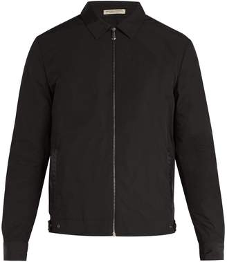 Bottega Veneta Intrecciato leather-trimmed jacket