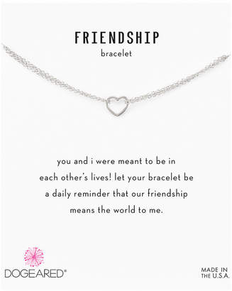 Dogeared Friendship Silver Bracelet