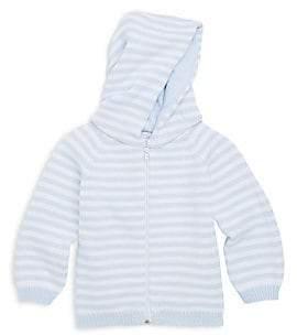 Kissy Kissy Baby Boy's Rugby Stripe Knit Hooded Cotton Jacket
