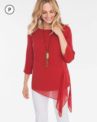 Chico's Chicos Petite Solid Asymmetrical Tunic