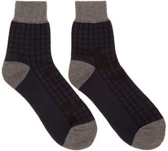 Sacai Navy Night Camo Low Socks