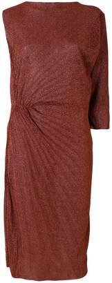A.F.Vandevorst pleated ruched detail dress