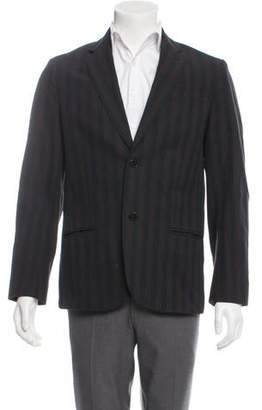 Marc by Marc Jacobs Striped Peaked-Lapel Blazer