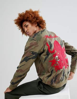 MHI Camo Tiger Back Embroidered Crew Neck Sweatshirt