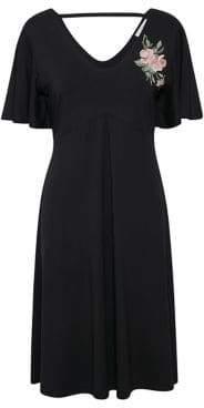 Cream Tenna Embroidered Dress