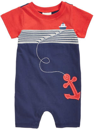 First Impressions Baby Boys Cotton Nautical Romper, Created for Macy's