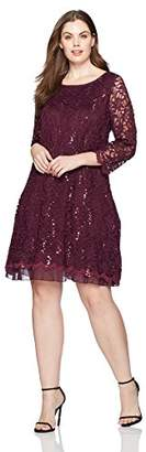 Tiana B Women's Plus Size lace a-line Dress