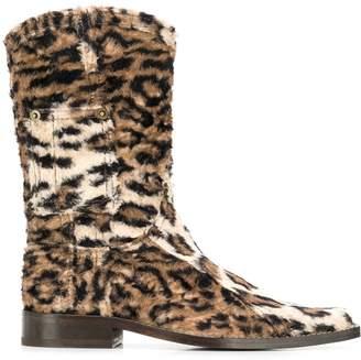 Martine Rose leopard print cowboy boots