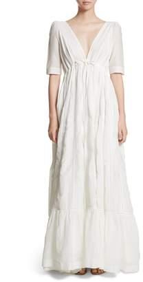 KALITA Uschi Cotton & Silk Maxi Dress