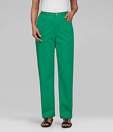 Samantha Grey Fly-Front Pants