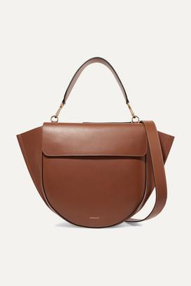 Hortensia Wandler Large Leather Shoulder Bag - Tan