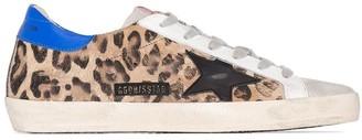 Golden Goose Superstar snow leopard print sneakers