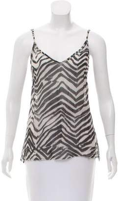 LoveShackFancy Zebra Print Sleeveless Top