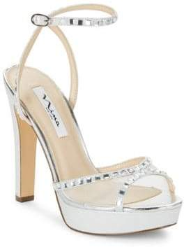 Nina Myrna Leather Platform Sandals