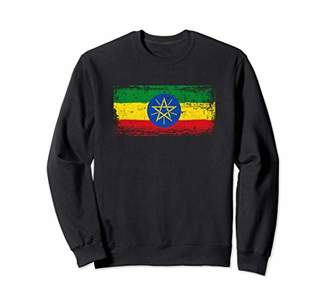 Ethiopia Flag Sweatshirt Distressed Vintage