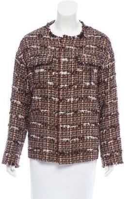 TOMORROWLAND Fringe Trimmed Tweed Jacket