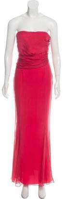 Christian Dior Bustier Plissé Evening Dress