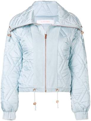 See by Chloe diamond quilt puffer jacket