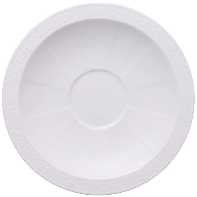 White Pearl Breakfast Cup Saucer (16cm)