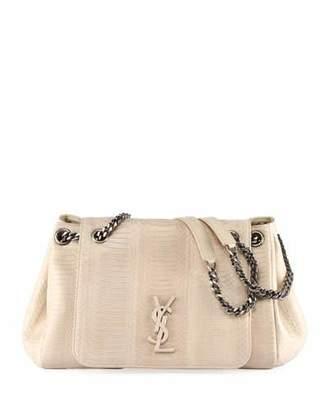 96bae78f68d Saint Laurent Nolita Medium Monogram Snakeskin Flap Shoulder Bag