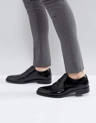 Aldo Berault Leather Toe Cap Shoes In Black