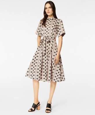 Brooks Brothers Daisy-Print Cotton Sateen Shirt Dress