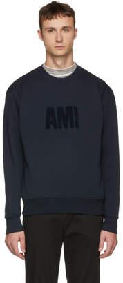 Ami Alexandre Mattiussi Navy Big Logo Sweatshirt