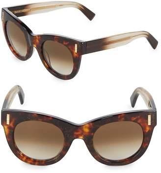 Boucheron Women's 48MM Glitter Cat-Eye Sunglasses