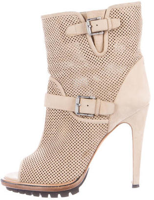 Belstaff Perforated Ankle Boots $225 thestylecure.com