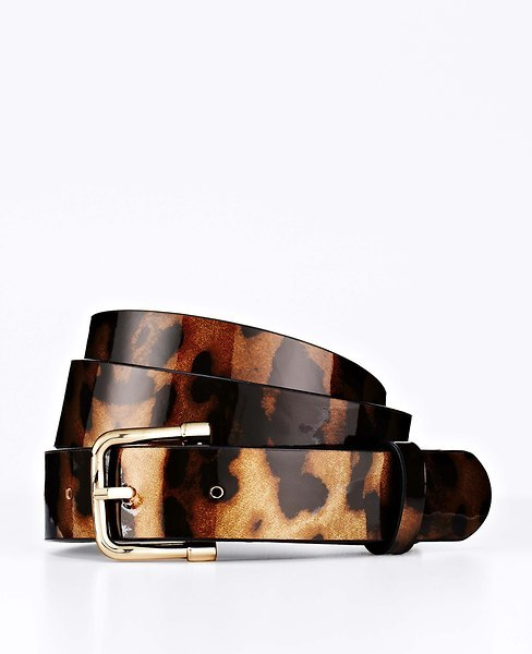 Ann Taylor Tortoiseshell Patent Leather Perfect Skinny Belt