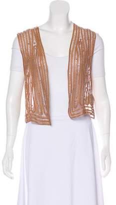 3.1 Phillip Lim Leather Crochet Vest