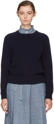 A.P.C. Navy Stirling Sweater $310 thestylecure.com