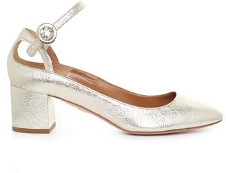 Aquazzura Sweet Thing leather block-heel pumps