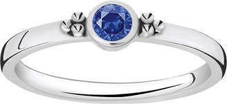 Thomas Sabo Royalty blue stone sterling silver stacking ring