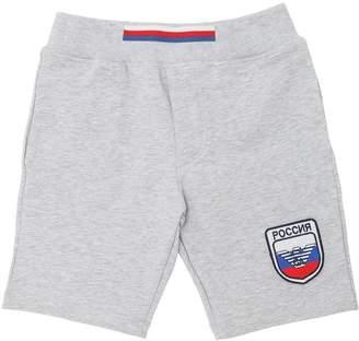 Armani Junior Russia Soccer Team Cotton Sweat Shorts