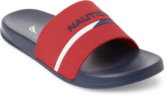 Nautica Navy & Red Stono 2 Slide Sandals