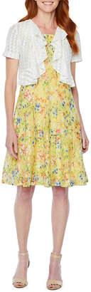 Perceptions Short Sleeve Lace Jacket Dress